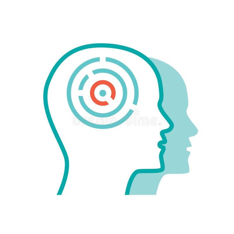 Icono de la psicología del vector stock de ilustración