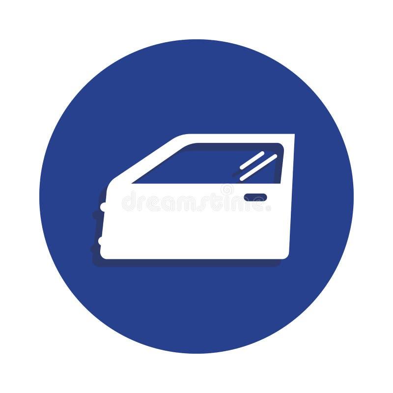 icono de la puerta de coche en estilo de la insignia Uno del icono de la colección de la reparación del coche se puede utilizar p ilustración del vector