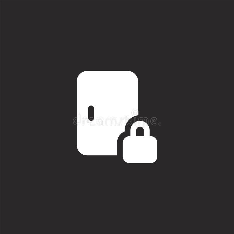 Icono de la puerta Icono llenado de la puerta para el diseño y el móvil, desarrollo de la página web del app icono de la puerta d stock de ilustración