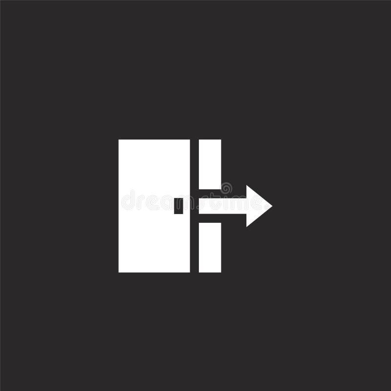 Icono de la puerta Icono llenado de la puerta para el diseño y el móvil, desarrollo de la página web del app el icono de la puert stock de ilustración