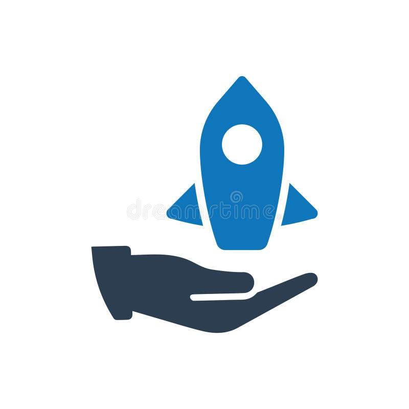Icono de la puesta en marcha del negocio ilustración del vector