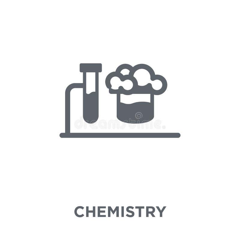 Icono de la química de la colección stock de ilustración