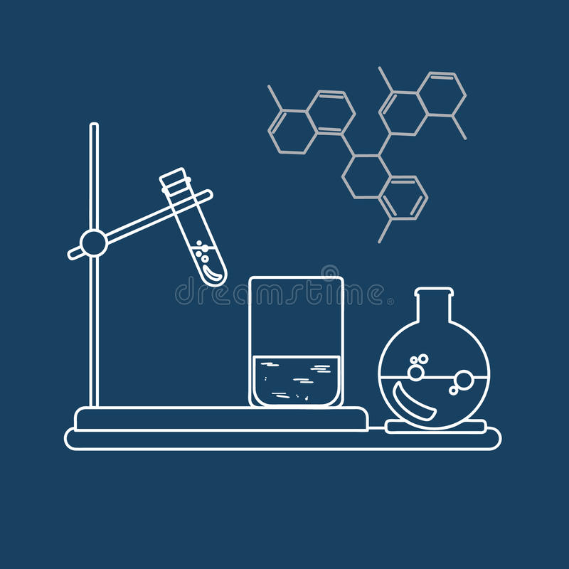 Icono de la química Ilustración del vector fotografía de archivo