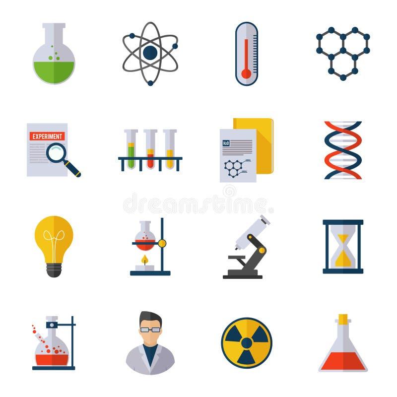 Icono de la química plano ilustración del vector