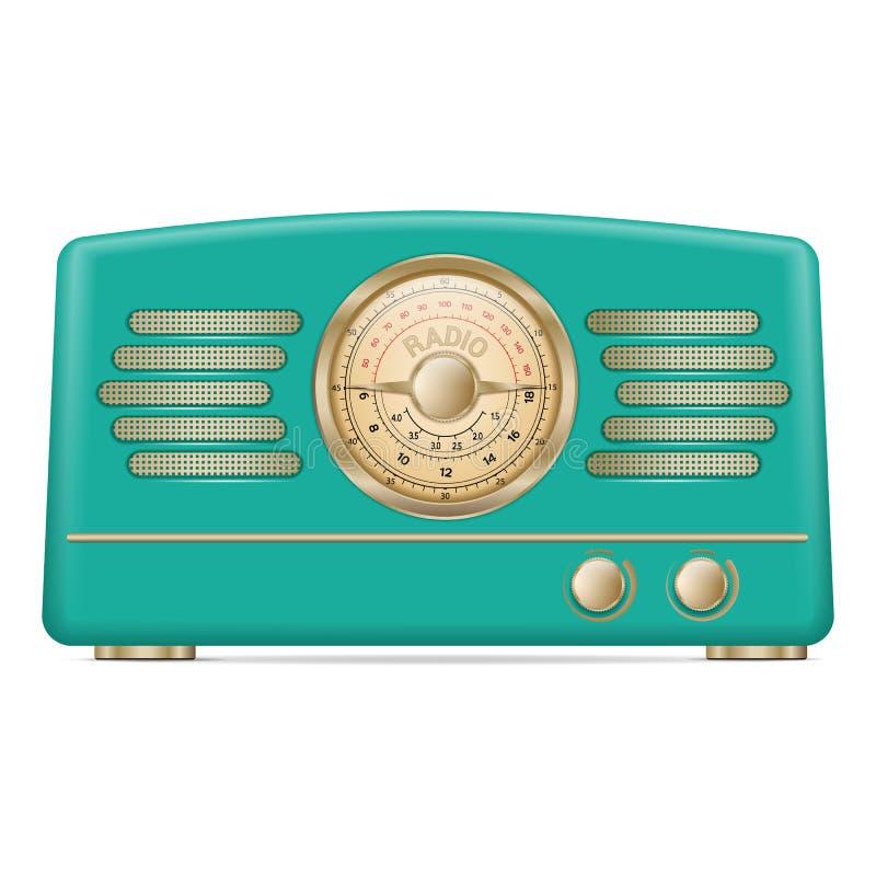 Icono de la radio del vintage, estilo realista ilustración del vector