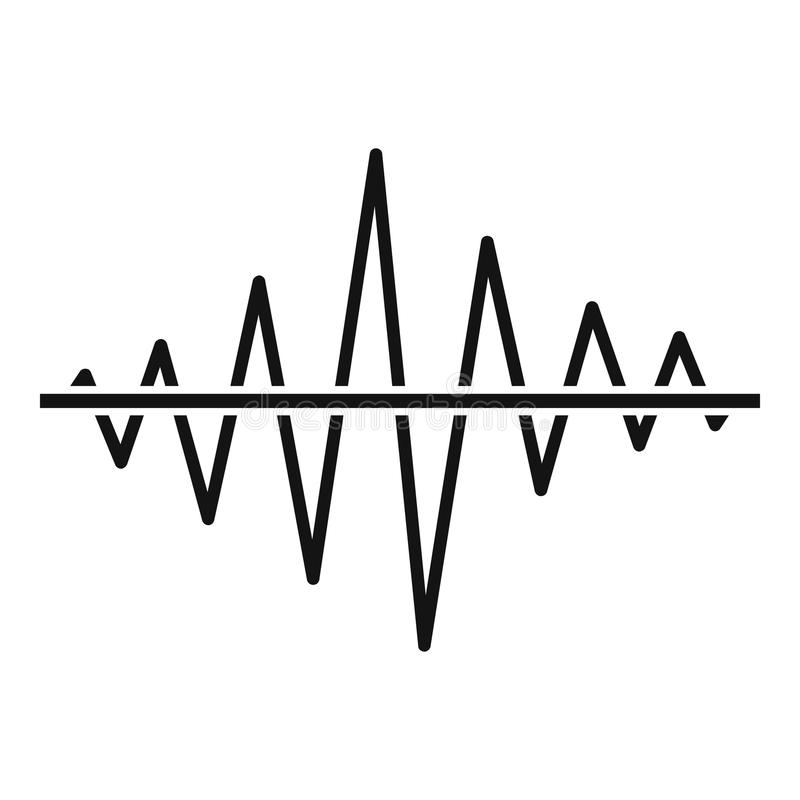 Icono de la radio de la voz del equalizador, estilo negro simple libre illustration