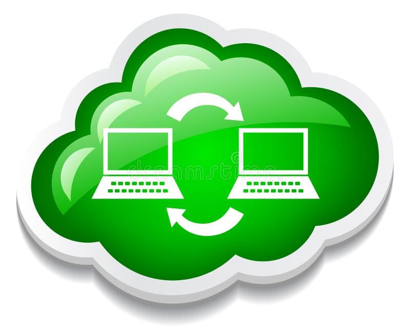 Icono de la red de ordenadores stock de ilustración