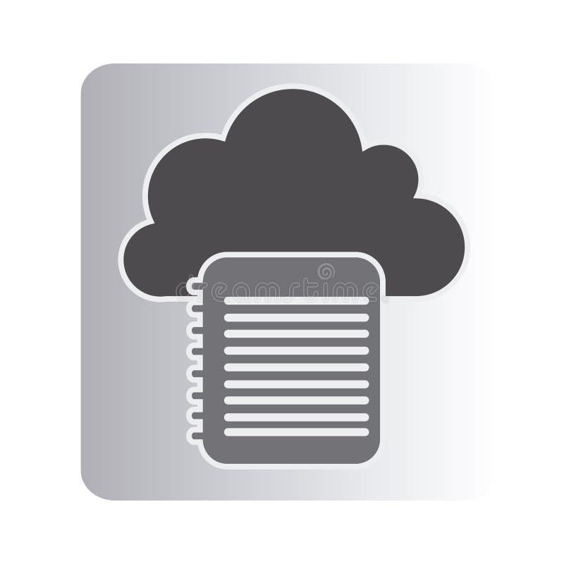 icono de la red del cuaderno de la nube libre illustration