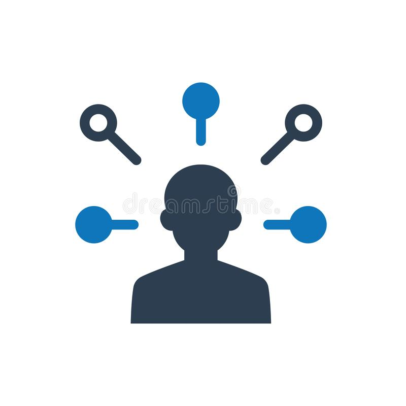 Icono de la red del usuario stock de ilustración
