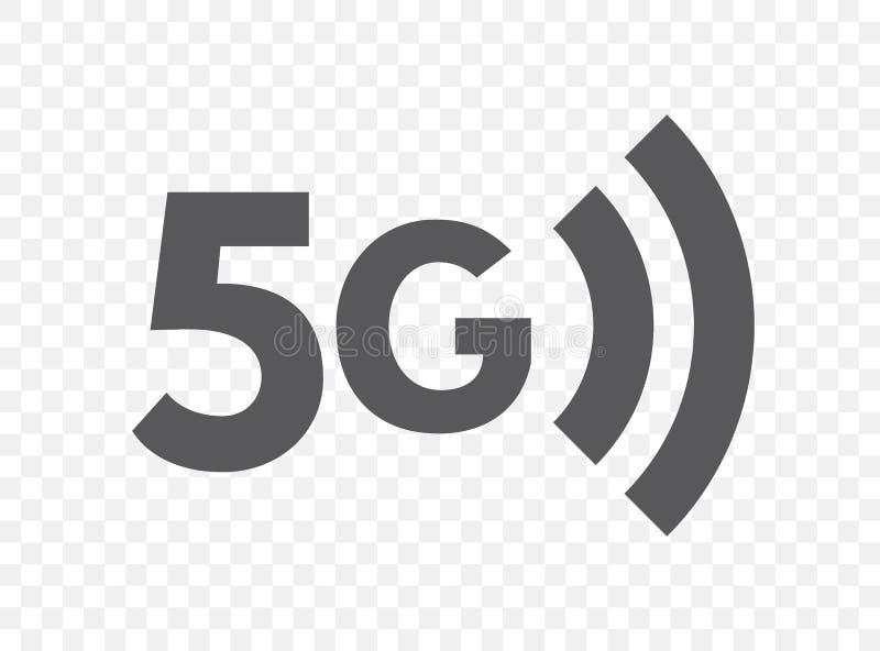 Icono de la red inalámbrica de la quinta generación símbolo de la tecnología 5G Conexión, concepto plano del ejemplo de Internet  stock de ilustración