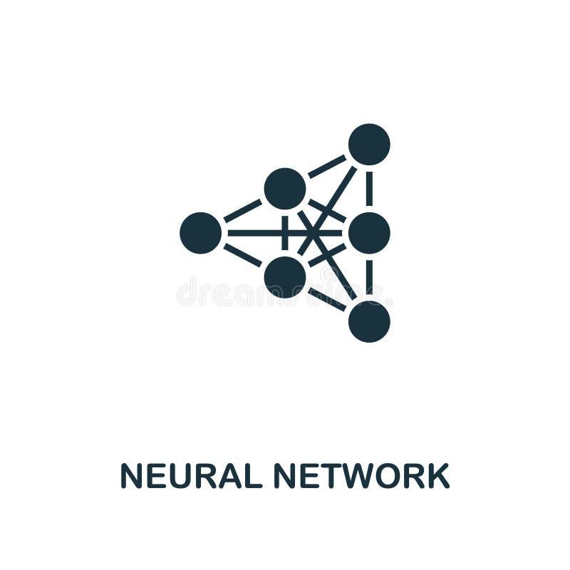 Icono de la red neuronal Diseño superior del estilo de la colección del icono de la inteligencia artificial UI y UX Red neuronal  ilustración del vector