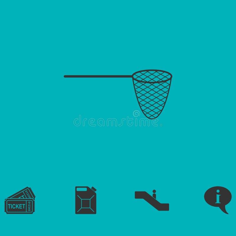 Icono de la red de pesca completamente stock de ilustración