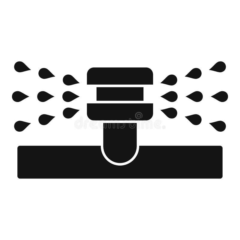 Icono de la regadera del agua, estilo simple ilustración del vector
