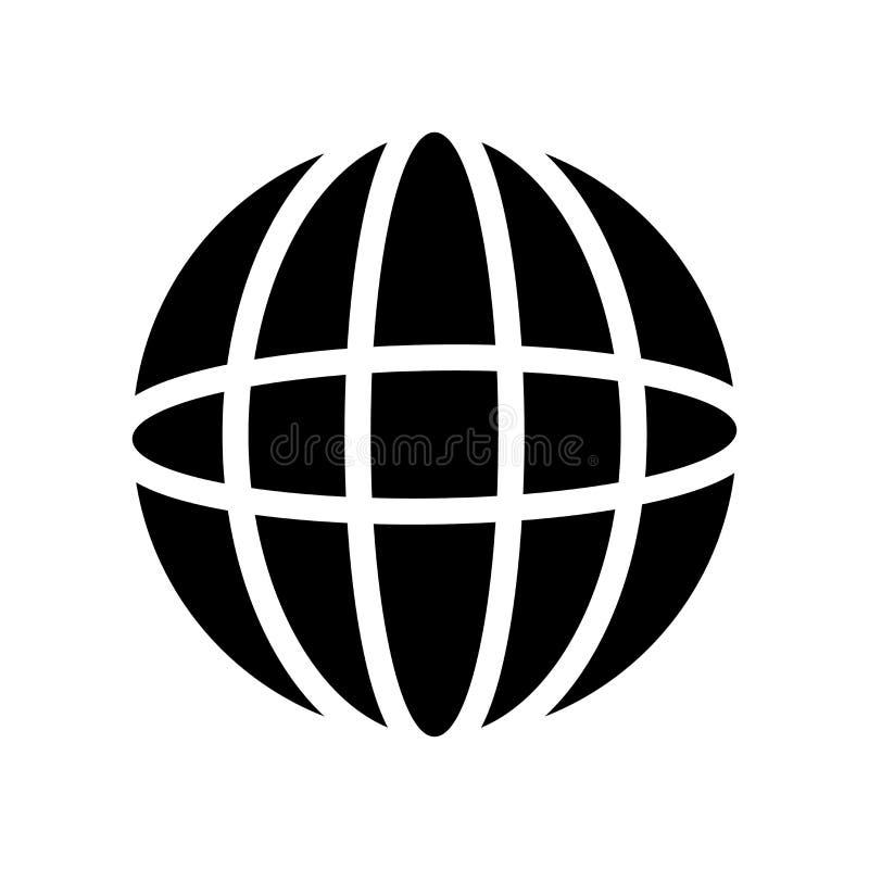 Icono de la rejilla de la tierra Concepto de moda del logotipo de la rejilla de la tierra en el backgro blanco stock de ilustración
