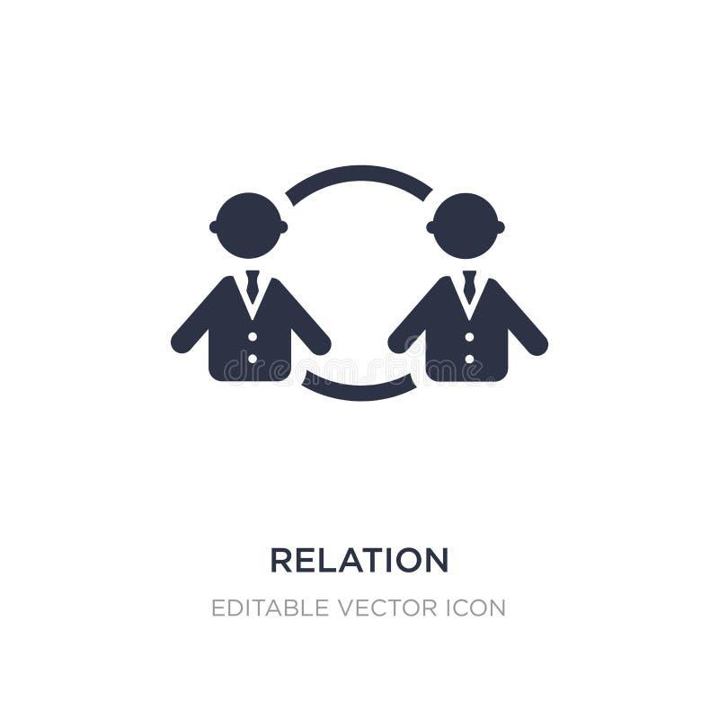 icono de la relación en el fondo blanco Ejemplo simple del elemento del concepto de la gente ilustración del vector