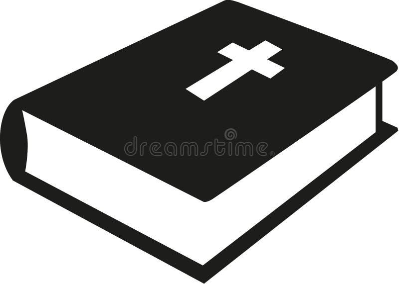 Icono de la religión de la biblia stock de ilustración