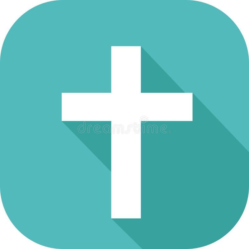 Icono de la religión cristiana ilustración del vector