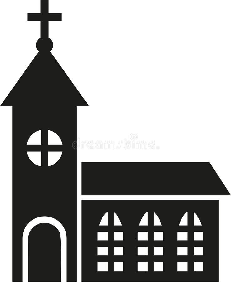 Icono de la religión de la iglesia stock de ilustración