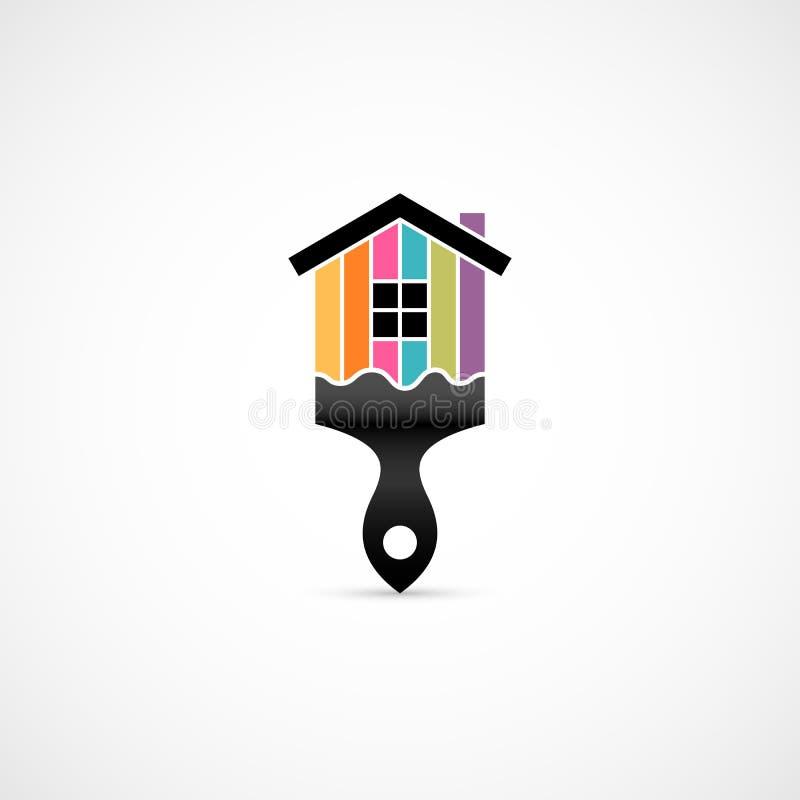 Icono de la renovación de la casa ilustración del vector
