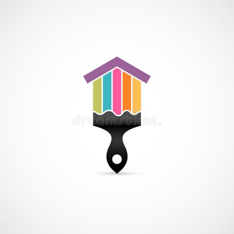 Icono de la renovación de la casa stock de ilustración