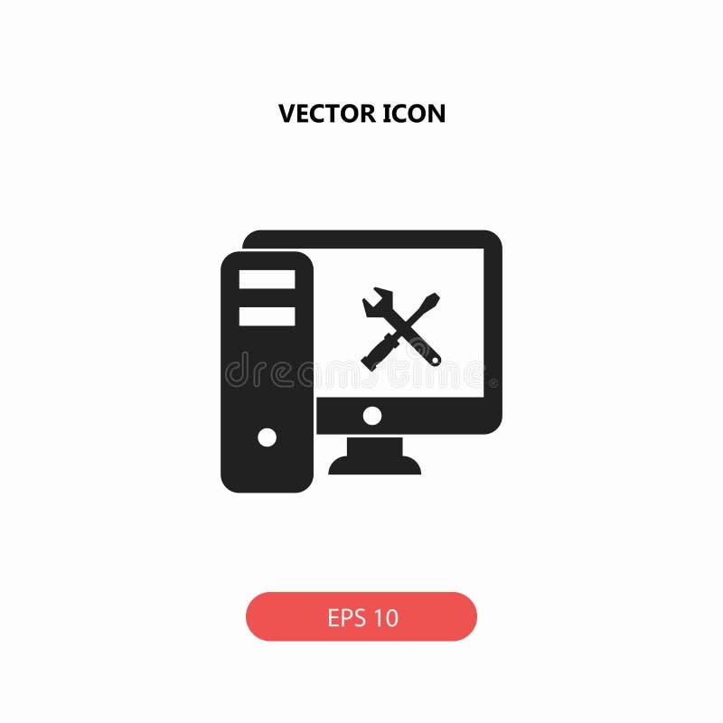 Icono de la reparación del ordenador imagen de archivo