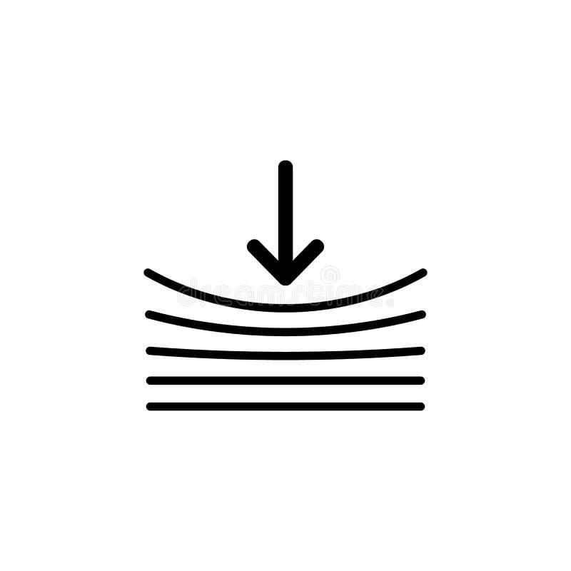 Icono de la resistencia en blanco ilustración del vector