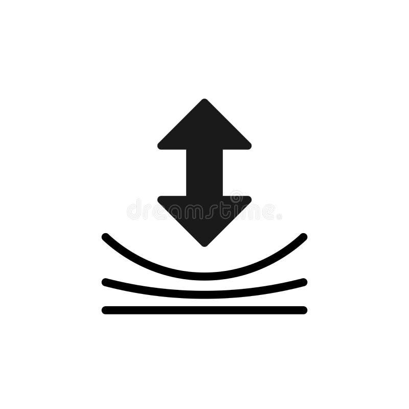 Icono de la resistencia Muestra material de el?stico Elemento del dise?o de la calidad Icono cl?sico del estilo Ejemplo del vecto libre illustration