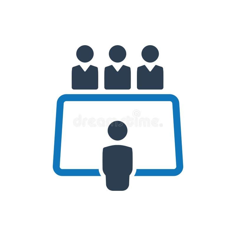 Icono de la reunión de negocios libre illustration