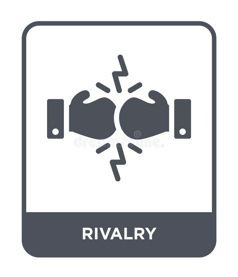 icono de la rivalidad en estilo de moda del diseño icono de la rivalidad aislado en el fondo blanco símbolo plano simple y modern libre illustration