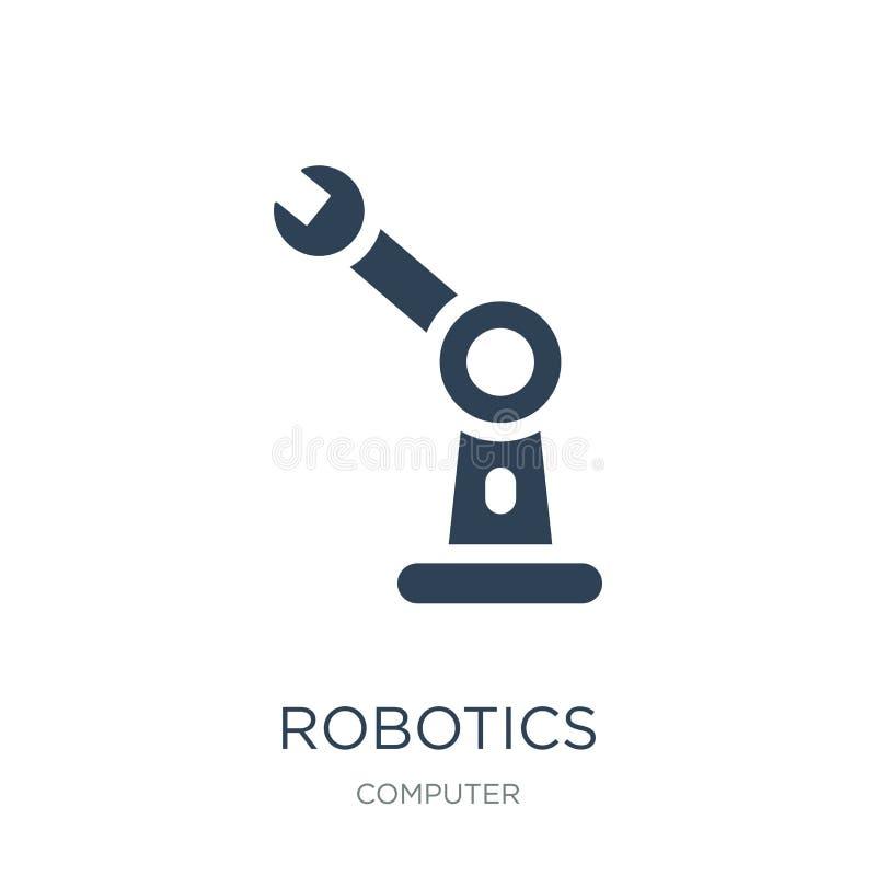 icono de la robótica en estilo de moda del diseño Icono de la robótica aislado en el fondo blanco plano simple y moderno del icon ilustración del vector