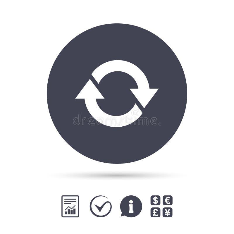 Icono de la rotación Repita el símbolo Restaure la muestra ilustración del vector