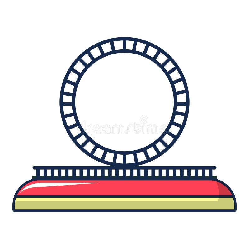 Icono de la rueda de la atracción, estilo de la historieta stock de ilustración