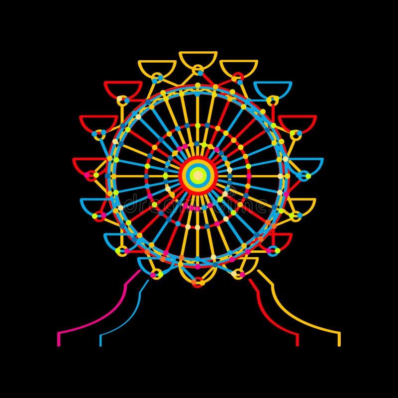 Icono de la rueda de Ferris stock de ilustración