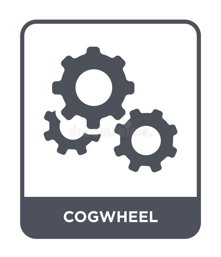 icono de la rueda dentada en estilo de moda del diseño Icono de la rueda dentada aislado en el fondo blanco plano simple y modern libre illustration