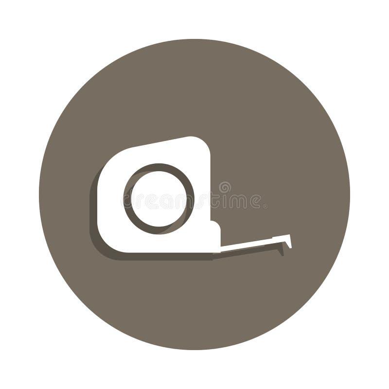 icono de la ruleta en estilo de la insignia Uno del icono de la colección de los materiales de construcción se puede utilizar par ilustración del vector
