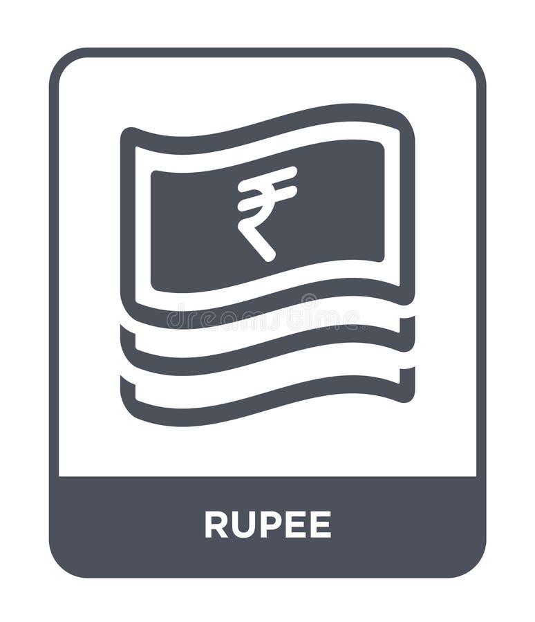 icono de la rupia en estilo de moda del diseño icono de la rupia aislado en el fondo blanco símbolo plano simple y moderno del ic libre illustration
