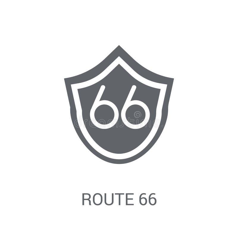 Icono de la ruta 66  stock de ilustración