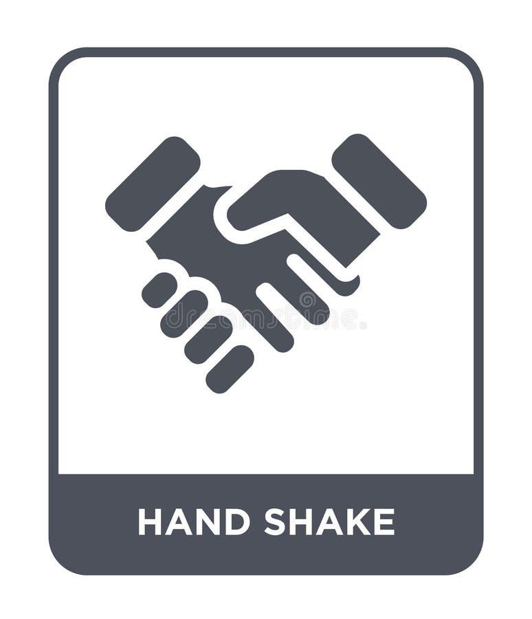icono de la sacudida de la mano en estilo de moda del diseño icono de la sacudida de la mano aislado en el fondo blanco icono del libre illustration