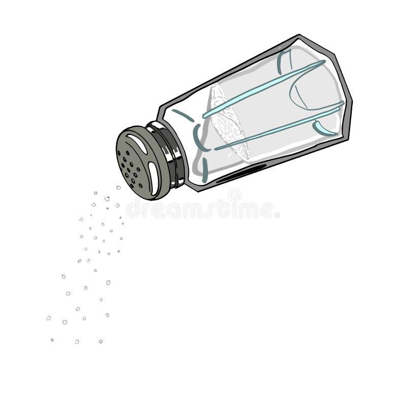 icono de la sal en el fondo blanco stock de ilustración