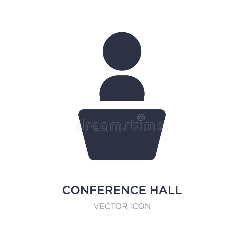 icono de la sala de conferencias en el fondo blanco Ejemplo simple del elemento del concepto de UI ilustración del vector