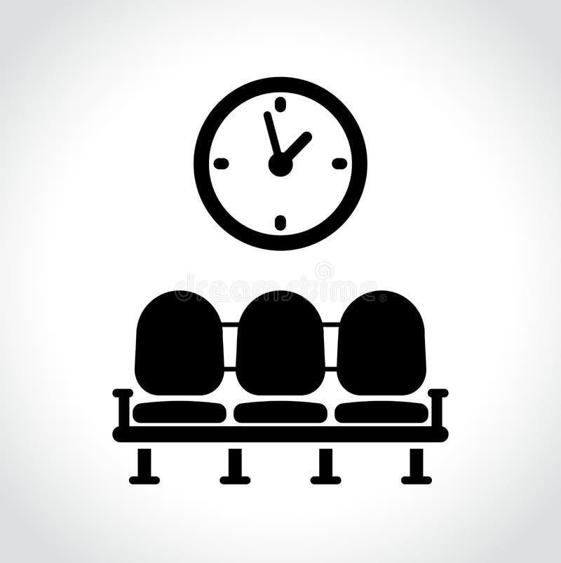 Icono de la sala de espera en el fondo blanco ilustración del vector
