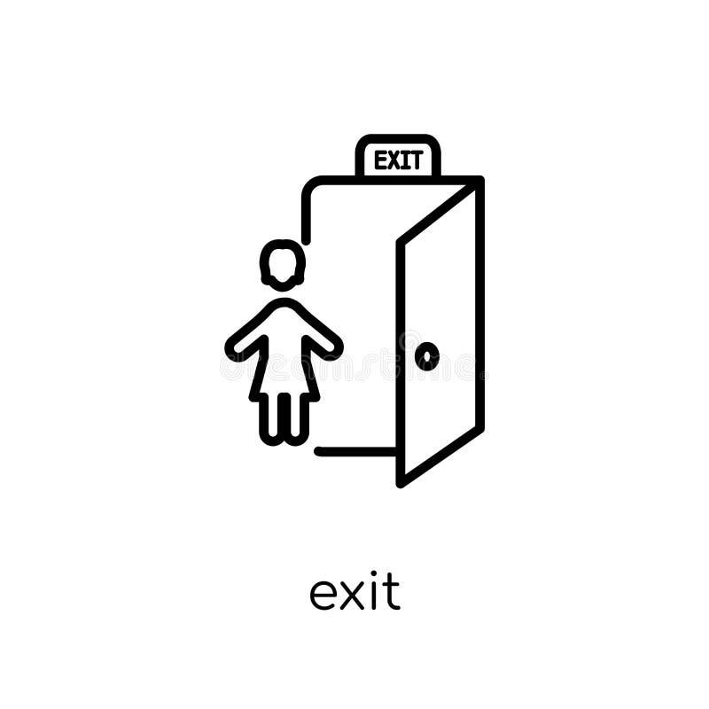 Icono de la salida de la colección del hotel ilustración del vector