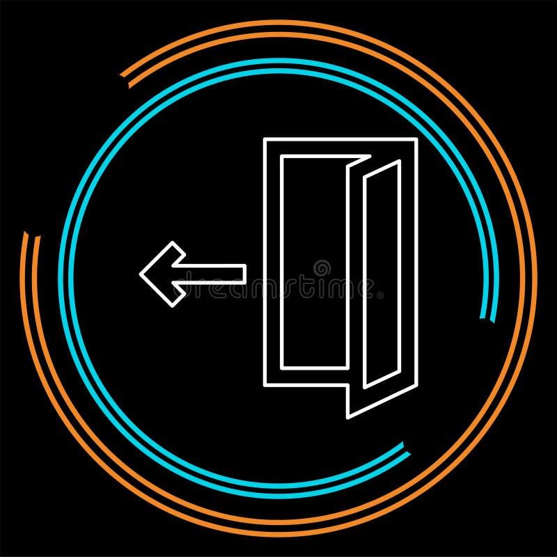 Icono de la salida del sistema del vector - muestra de la salida o salida del sistema del registro ilustración del vector