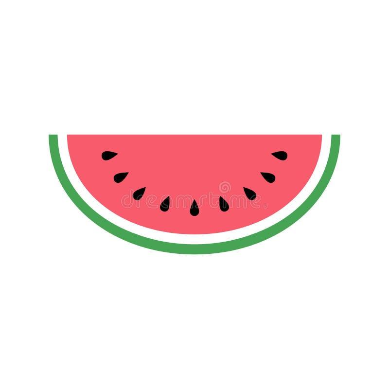 Icono de la sandía, diseño simple, clip art del icono de la sandía stock de ilustración