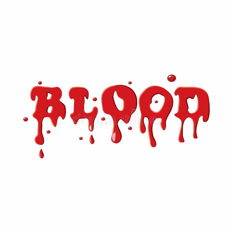 Icono de la sangre de la palabra libre illustration