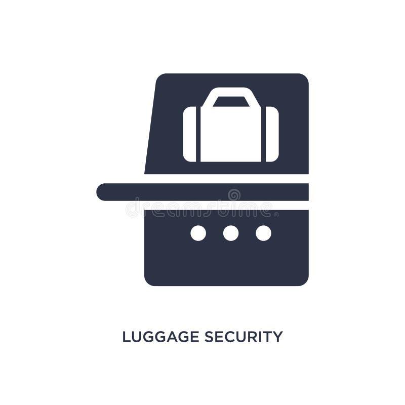 icono de la seguridad del equipaje en el fondo blanco Ejemplo simple del elemento del concepto del terminal de aeropuerto ilustración del vector