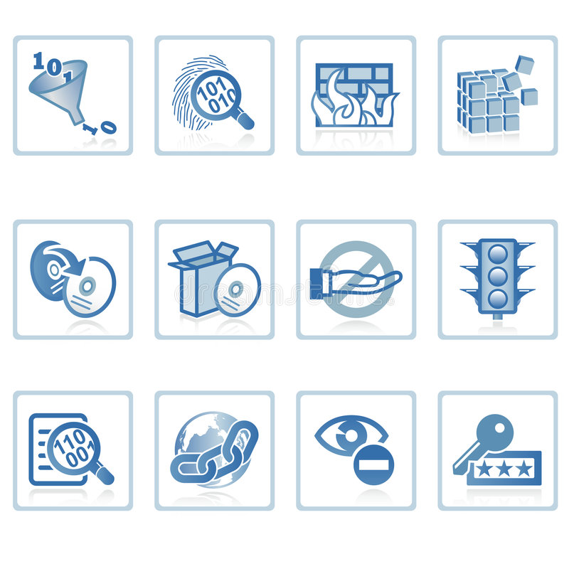Icono de la seguridad del Internet stock de ilustración