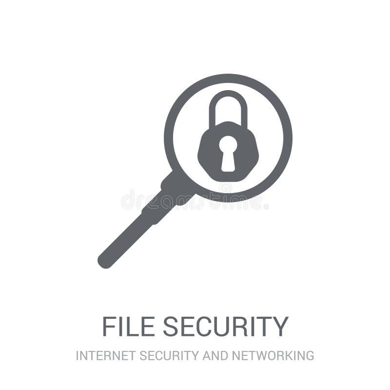 Icono de la seguridad de fichero  stock de ilustración