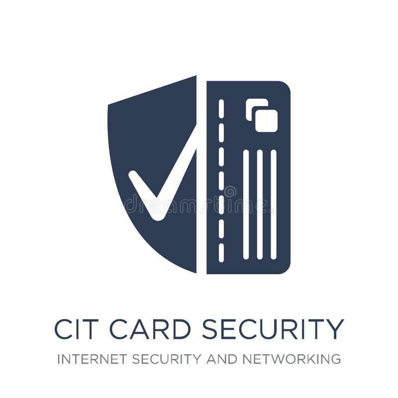 Icono de la seguridad de la tarjeta de crédito Securi plano de moda de la tarjeta de crédito del vector libre illustration