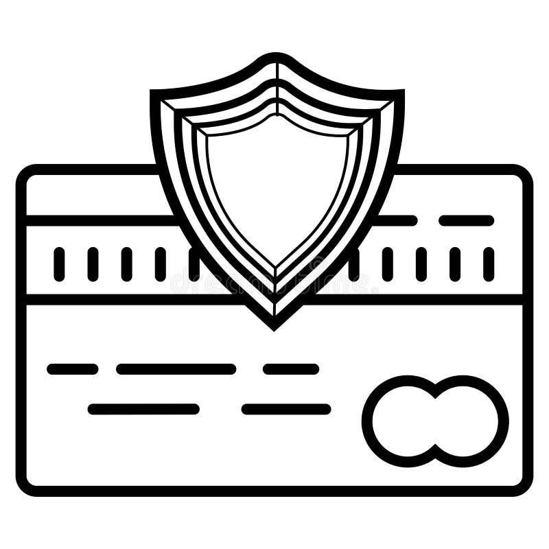 Icono de la seguridad de la tarjeta de cr?dito ilustración del vector